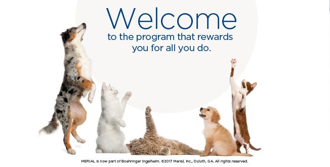 merial rewards login